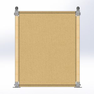 Zijwand 2m compleet<br>(zonder raam)</br>