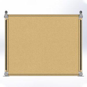Zijwand 3m compleet<br>(zonder raam)</br>