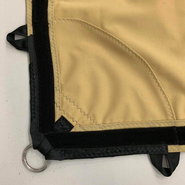 Klittenband rondom rand tbv koppelgoot